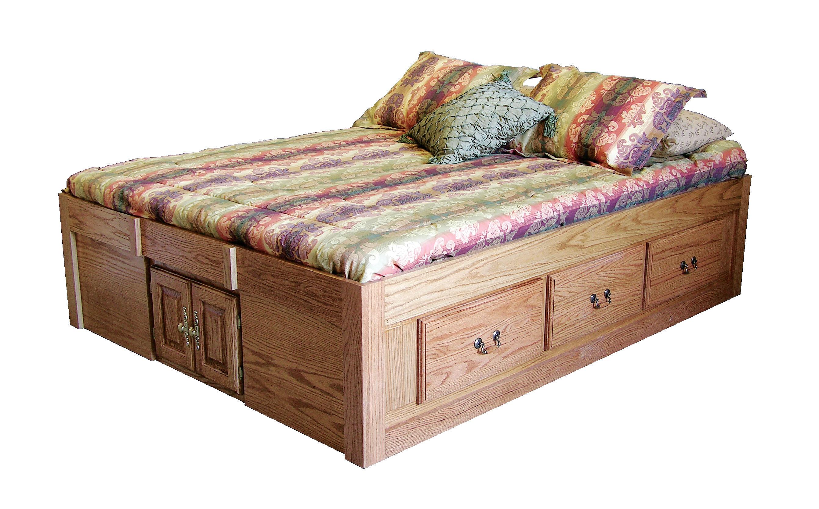 Picture of: Loon Peak Kuhn Queen Solid Wood Storage Platform Bed Reviews