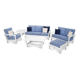 Harbour 6 Piece Sunbrella Conversation Set with Cushions
