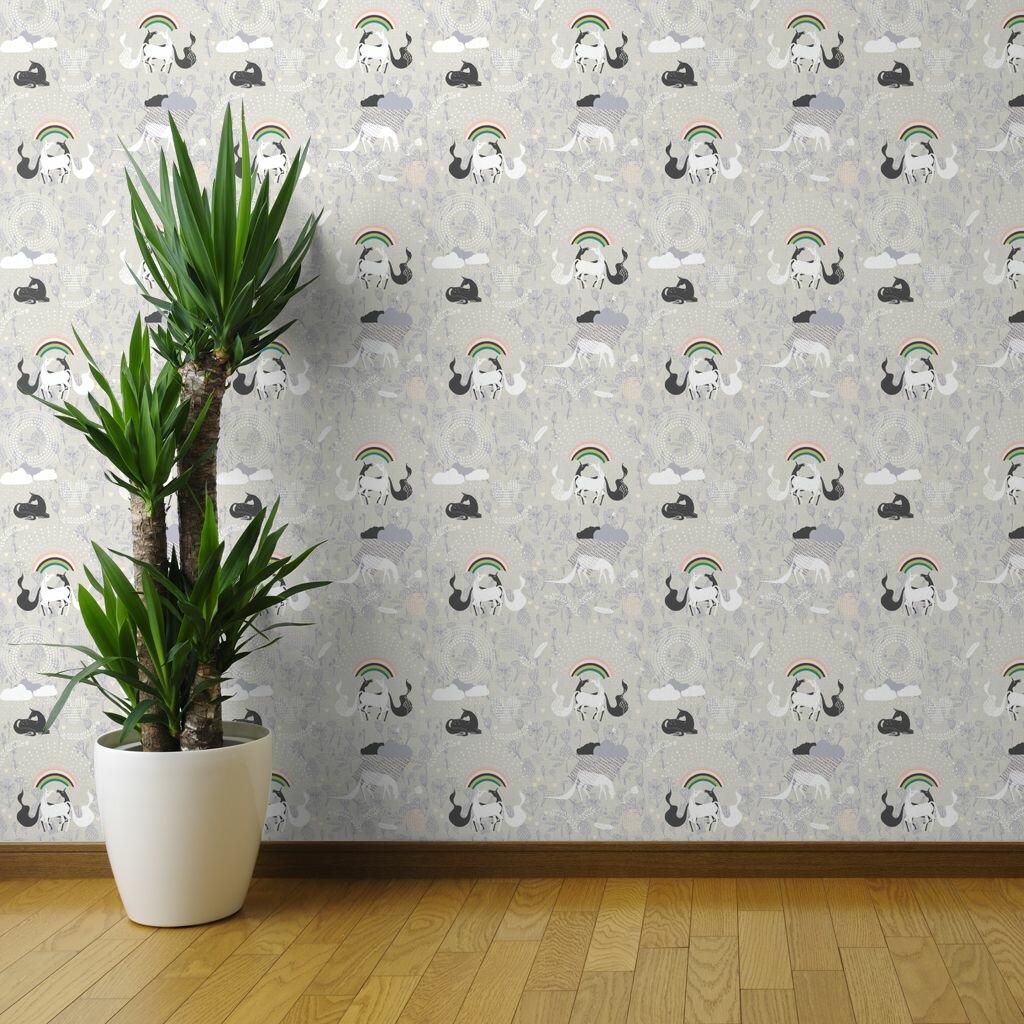 Harriet Bee Gallimore Unicorns Removable Wallpaper Roll Wayfair