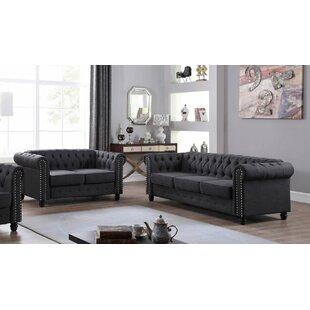 Hubert 2 Piece Living Room Set by Alcott Hill