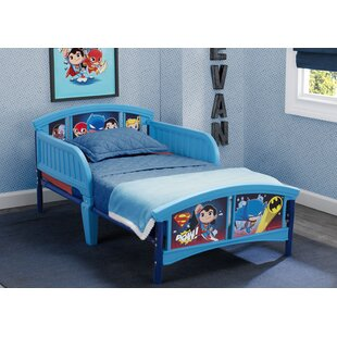 DC Super Friends Plastic Toddler Platform Bed by Delta Children