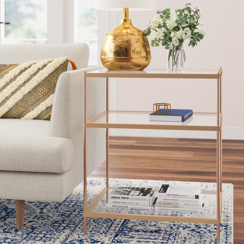 Joss Main End Table With Storage Reviews Wayfair
