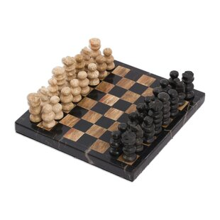 Challenge Marble Chess Set By Novica