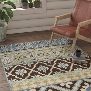 Leah Chocolate/Blue Indoor/Outdoor Area Rug by Safavieh