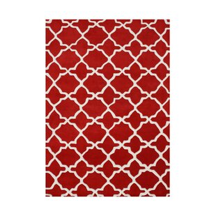 Sixes Hand-Tufted Red Area Rug ByThe Conestoga Trading Co.