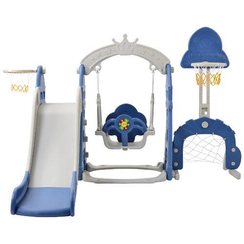 Jessamine Childrens 5-In-1 Multifunctional Toddler Slide Wit