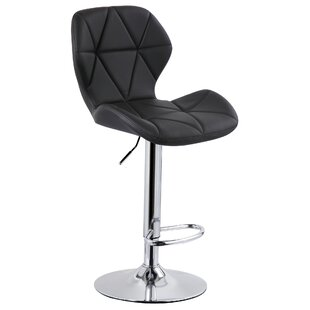 Julieth Height Adjustable Swivel Bar Stool By Wade Logan