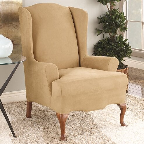 Sure Fit T Cushion Wingback Slipcover U0026 Reviews | Wayfair