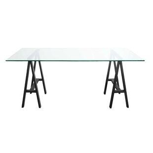 Harbin Glass Writing Desk by Mercury Row