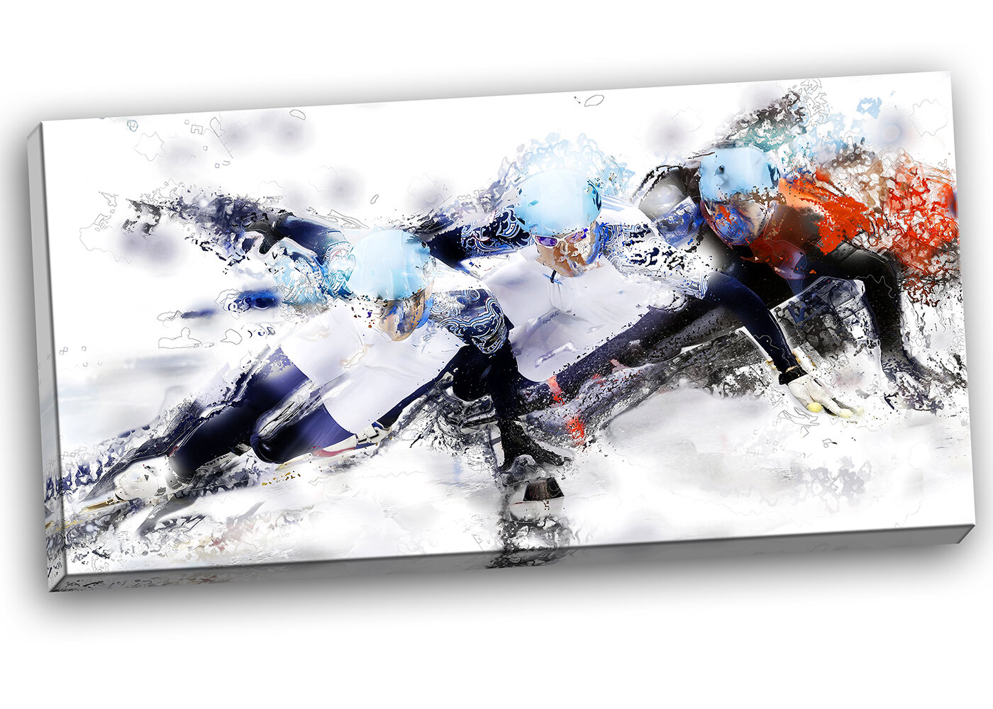 Designart Speed Skating Finish Line Graphic Art On Wrapped Canvas Wayfair