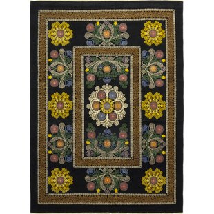 Looking for One-of-a-Kind Dewitt Hand-Knotted Wool Black Indoor Area Rug By Isabelline