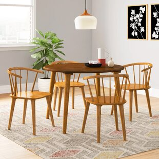 Arielle 5 Piece Oak Dining Set