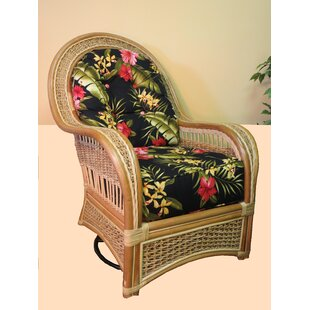 Spice Islands Wicker Swivel Rocking Chair