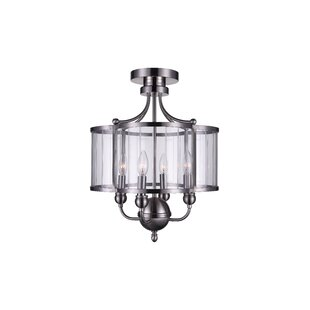 Renishaw 4-Light Semi Flush Mount by CWI Lighting