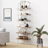 Zachary 85 H x 30 W Metal Ladder Bookcase by Foundstone™
