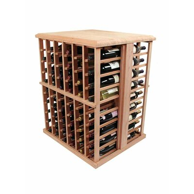 Wine Cellar Innovations Designer Series 108 Bottle Floor Wine Rack Wood Type: Premium Redwood, Finish: Classic Mahogany