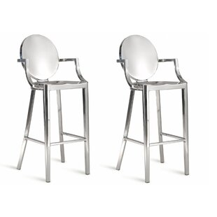 Salazar 30 Bar Stool (Set of 2) Everly Quinn