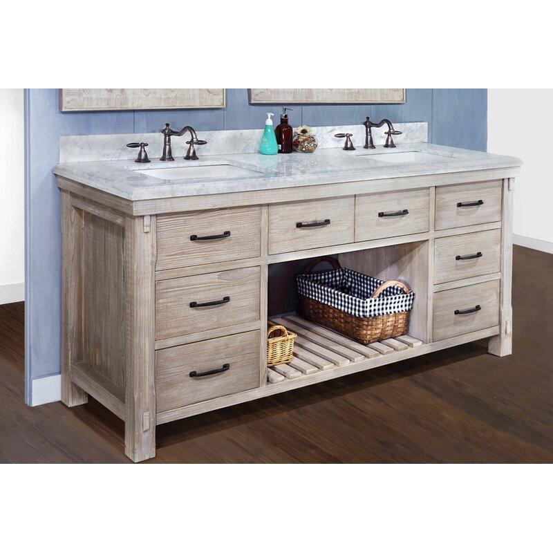 Barth 72 Double Bathroom Vanity Set