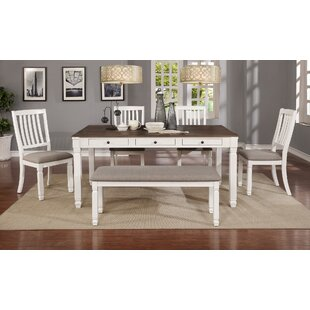 Jacklyn 6 Piece Solid Wood Dining Set