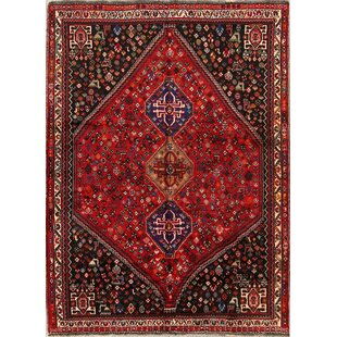 Reviews One-of-a-Kind Mckinnis Abadeh Nafar Vintage Persian Hand-Knotted 6'1 x 8'3 Wool Red/Blue/Black Area Rug By Isabelline