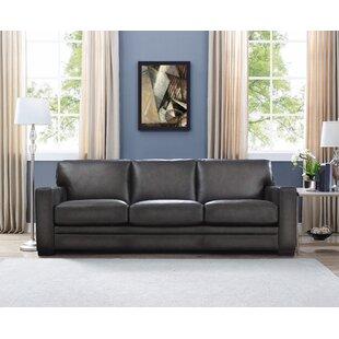 Drakeford Leather Sofa by Brayden Studio
