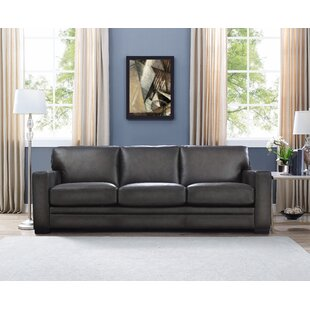 Great Price Drakeford Leather Sofa by Brayden Studio Reviews (2019) & Buyer's Guide