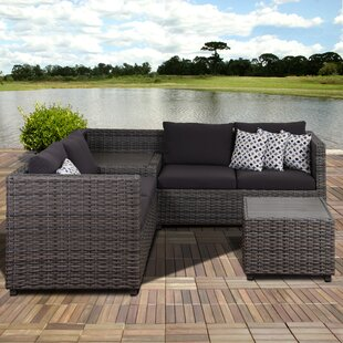 Jalonte 5 Piece Rattan Sectional Seating Group With Cushions By Brayden Studio