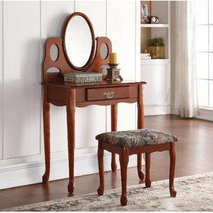 Charlton Home Roseman Regal Vanity Set with Mirror