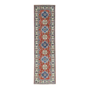 Best Choices One-of-a-Kind Lawerence Hand-Knotted Red Area Rug By Canora Grey