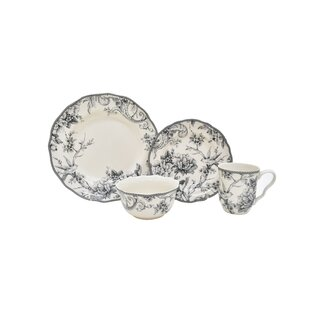 Adelaide 16 Piece Dinnerware Set, Service for 4 (Set of 4)