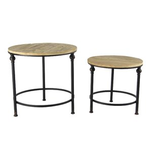 Gearhart Rustic Round 2 Piece Nesting Table Set