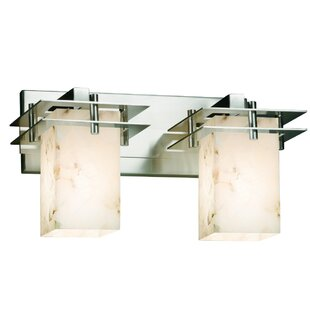 Crosson 2-Light Vanity Light by Rosecliff Heights