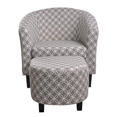 Paisley Barrel Chair And Ottoman