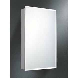Otelia Door 20 x 30 Surface Mount Frameless Medicine Cabinet with 4 Adjustable Shelves ByWinston Porter
