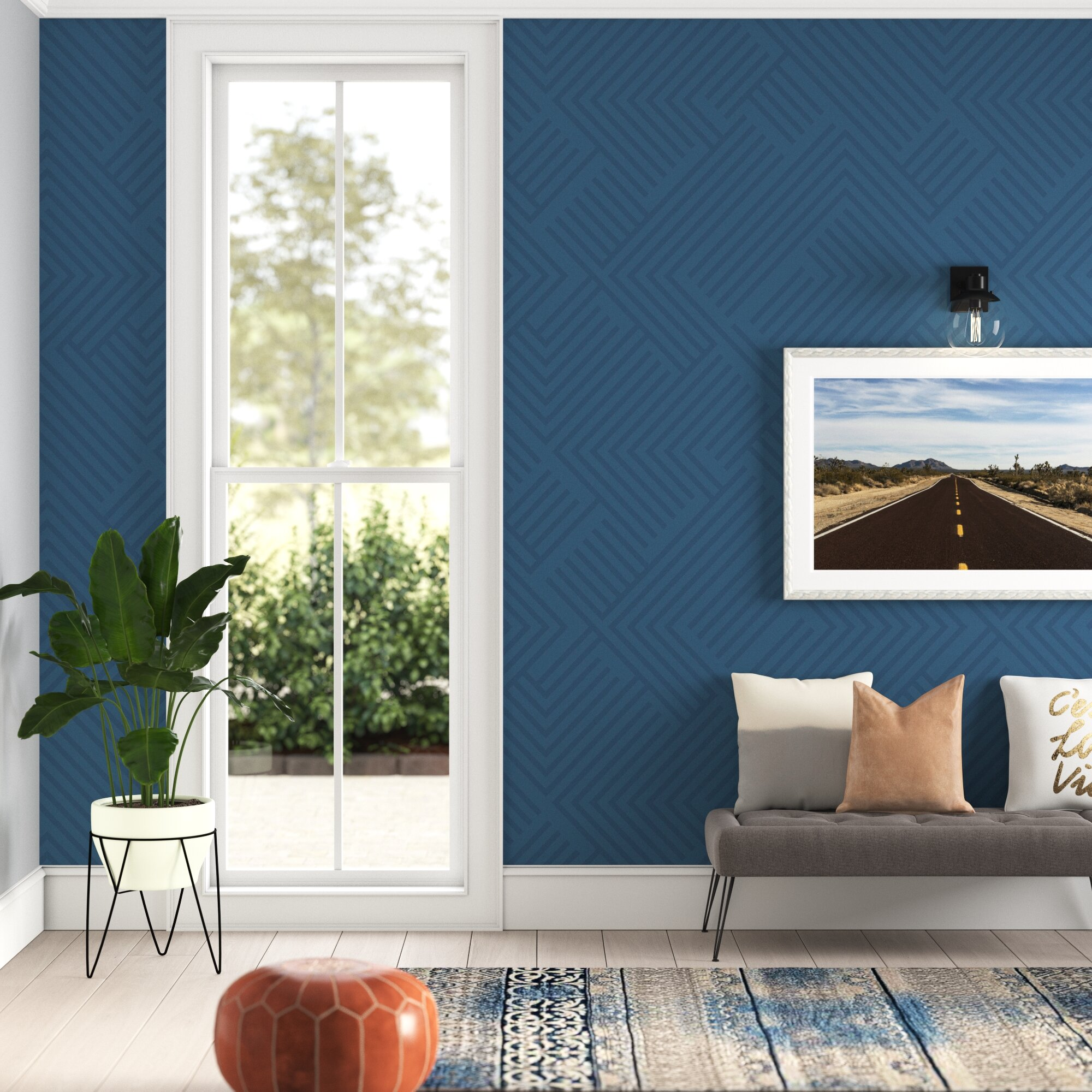 Blue Self Adhesive Wallpaper You Ll Love In 2020 Wayfair