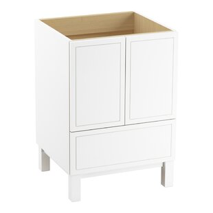 Check Prices Jacquard™ 24 Vanity Base Only with Furniture Legs, 2 Doors and 1 Drawer By Kohler