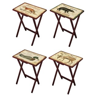 Senneterre Postcards 4 Piece TV Tray Set by Loon Peak