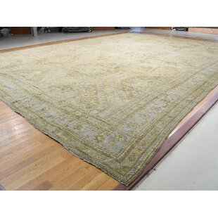 One-of-a-Kind Bearer Antique Turkish Exc Cond Hand-Knotted 19'2 x 24'7 Wool Beige Area Rug By Isabelline