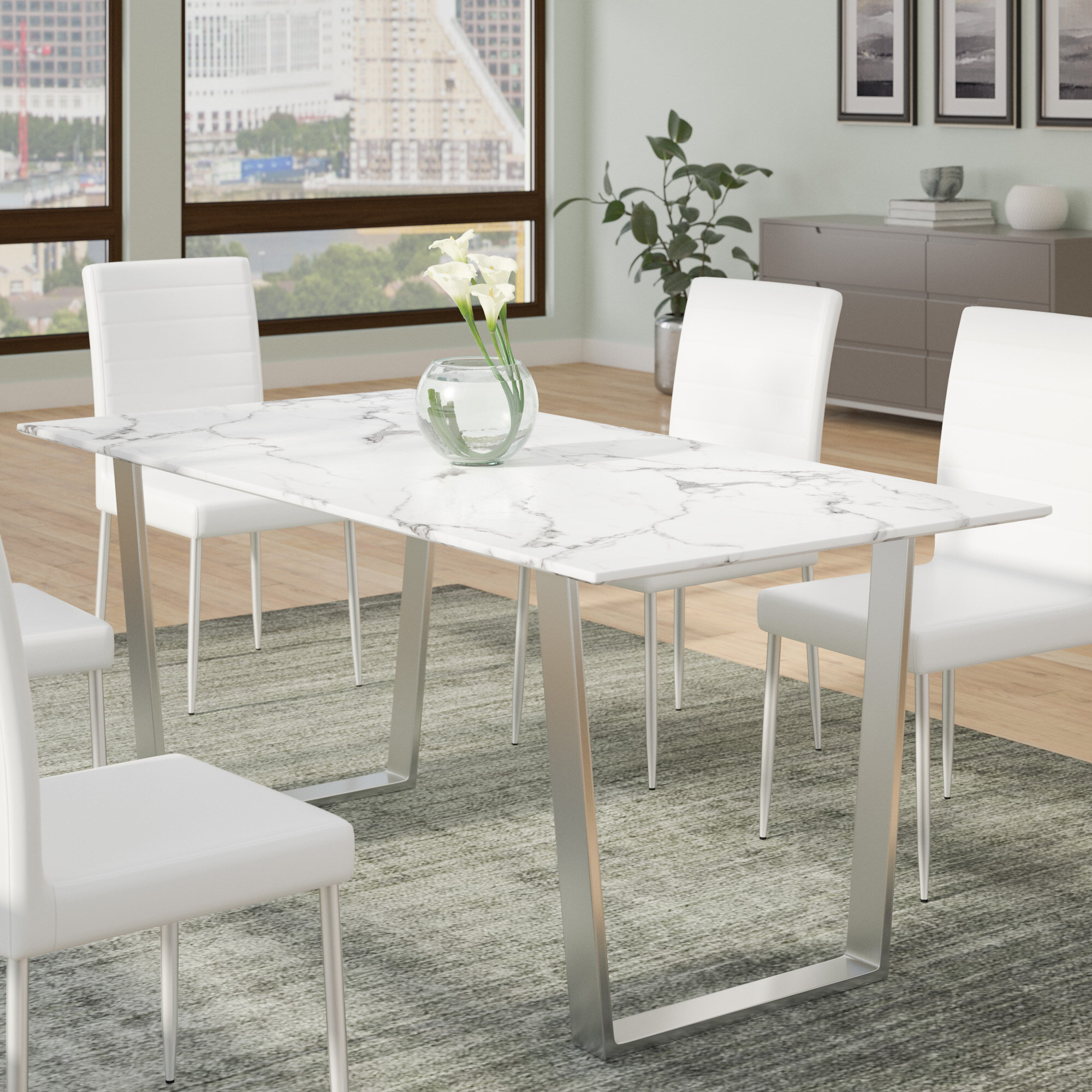 Wade logan geelong dining table wayfair ca