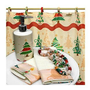 Best Reviews O' Christmas Tree Resin Shower Curtain Set By The Holiday Aisle