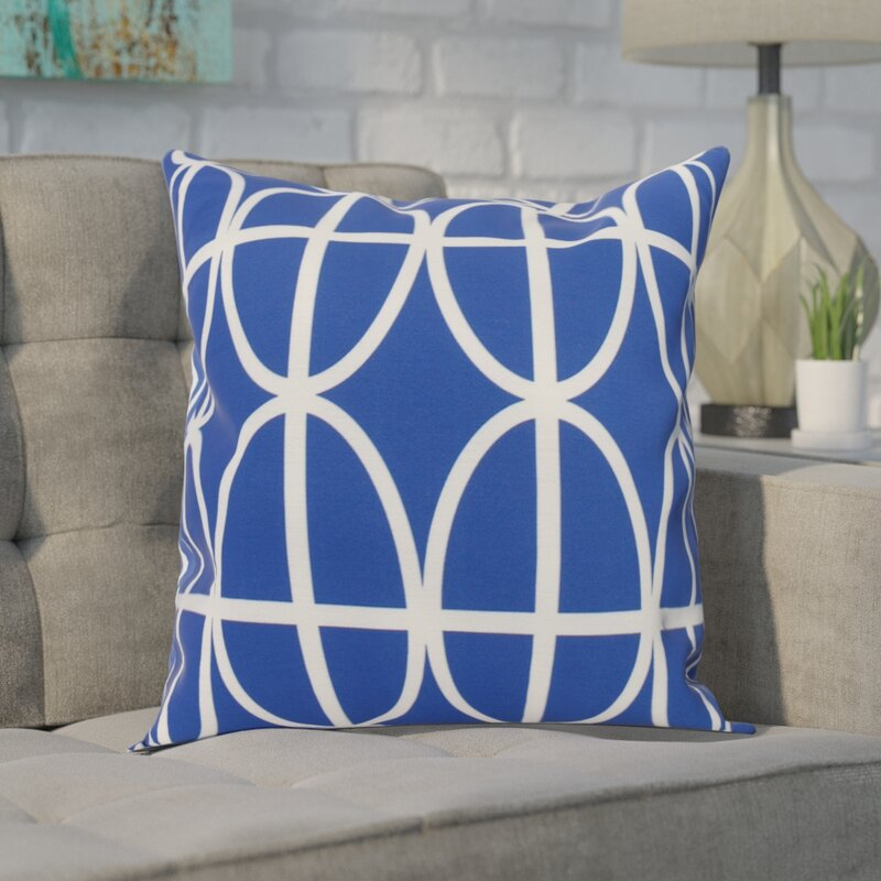 Wrought Studio Hardwick Ovals And Stripes Print Outdoor Square Pillow Cover And Insert Wayfair