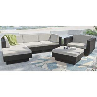 Park Terrace 6 Piece Sectional Set with Cushions