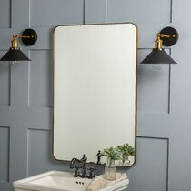 Champagne Gold Frame Large 85cm Wavy Contemporary Statement Wall Mirror