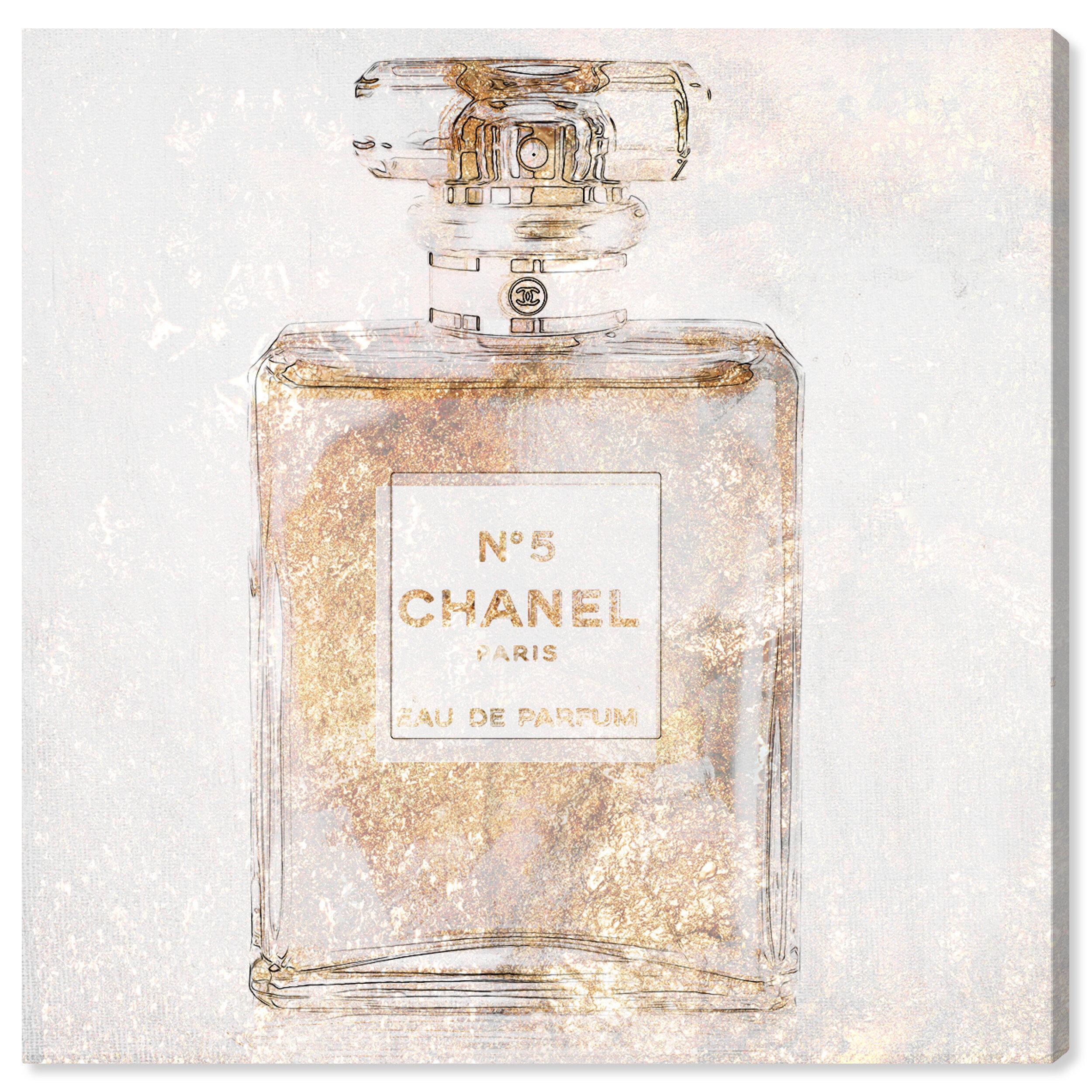 Oliver Gal Fashion And Glam Parfum Glimmer Perfume Graphic Art Print Wayfair