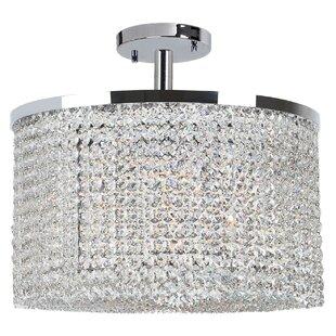 Orren Ellis Diep Crystal String 9-Light Semi Flush Mount