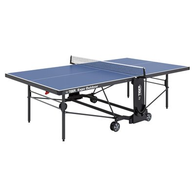 Expo Ping Pong Foldable Indoor/Outdoor Table Tennis Table TigerPingPong Finish/Color: Blue