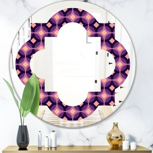 Quatrefoil Circular Pattern Eclectic Frameless Wall Mirror by East Urban Home