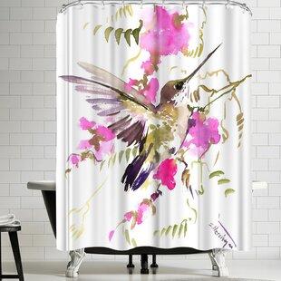 Suren Nersisyan Hummingbird Flyiong Single Shower Curtain