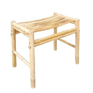 ZEW Inc Bamboo Wood Stool