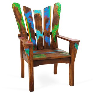 EcoChic Lifestyles Dock Holiday Solid Wood Adirondack Chair